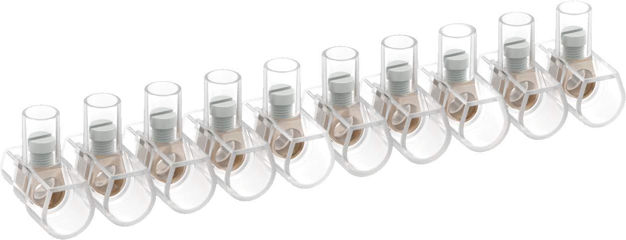 4mmq 100 Morsetti unipolari in stecche da 10 poli