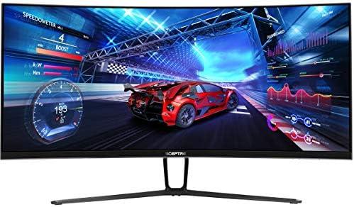 Sceptre 35 Inch Curved UltraBroad 21: 9 LED Creative Monitor QHD 3440x1440 Frameless AMD Freesync HDMI DisplayPort Up to 100Hz, Machine Black 2020 (C355W-3440UN)