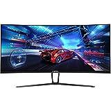 Sceptre 35 Inch Curved UltraWide 21: 9 LED Creative Monitor QHD 3440x1440 Frameless AMD Freesync HDMI DisplayPort Up to 100Hz  Machine Black 2020 (C355W-3440UN)