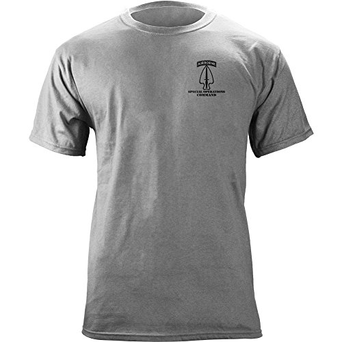 - Army Special Operations Command Full Color Veteran T-Shirt (M, Heather Grey)