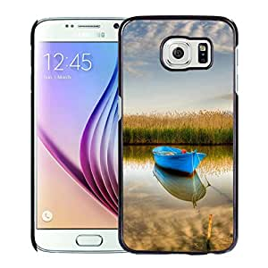 Nature Blue Boat Stranding Calm Crystal Lake Durable High Quality Samsung Galaxy S6 Case