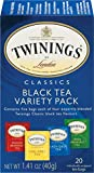 Twinings of London Classics Black Tea Variety Pack, 20 Count (Pack of 6