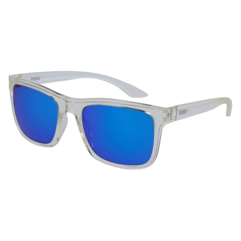 Puma PU0071S 001 Gafas de Sol, Blanco (Crystal/Bluee), 54 ...
