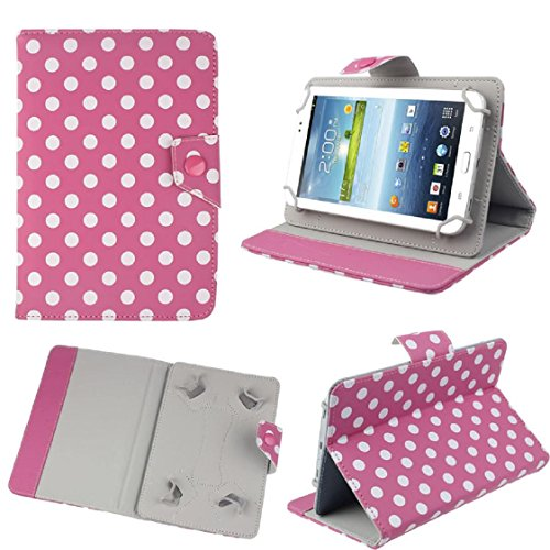 For Android Tablet PC, Mchoice 7 inch Universal Polka Dot Leather Stand Case Cover for Android Tablet PC (Hot Pink)