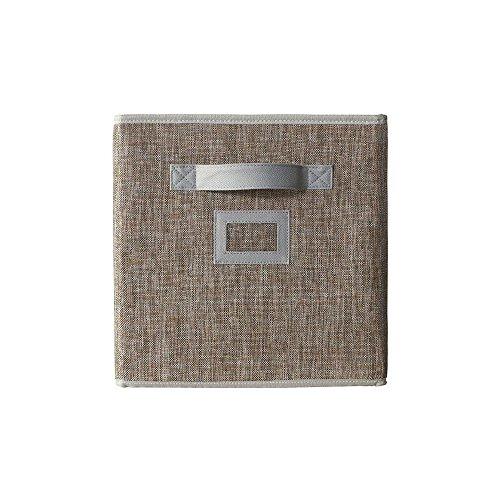 - Home Decorators Collection 11 in. Fabric Glimmer Storage Bin in Walnut