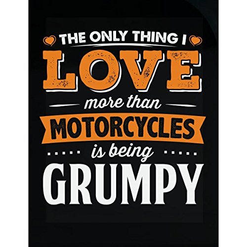My Family Tee Love Being Grumpy More Than Motorcycles Biker Gift - Sticker