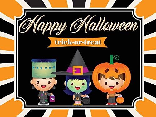 Custom Happy Halloween Banner Sizes 36x24, 48x24, 48x36; Kids Halloween Party, pumpkin, Halloween Decorations, Halloween eve, Trick-or-treat, Halloween Party Decor, Handmade Baby Shower Banner Decor