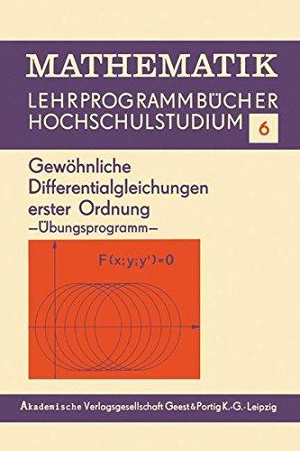 Gewöhnliche Differentialgleichungen erster Ordnung: Übungsprogramm (Mathematik, Band 6)