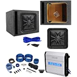 Kicker L7S122 12 1500w Solobaric L7S Subwoofer+Hifonics Amp+Vented Box+Wires
