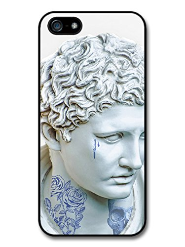 Retro Vintage Design with Classic Art Statue Tattoos Rose Skull and Dagger case for iPhone 5 5S