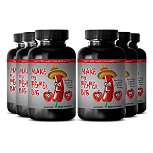 "Natural Male Enchantment Pills - ""Make My Pepper Big"" with Maca Root, L-Arginine, Ginseng - Increase Desire and Strength with ""Make My Pepper Big"" (6 Bottles 360 Capsules) natural male enchantment - 513tn5jxLfL - natural male enchantment"