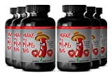 Tongkat Ali Power - ''Make My Pepper Big'' with Maca Root, L-Arginine, Ginseng - Boost Energy and Endurance with Herbal ''Make My Pepper Big'' Supplement (6 Bottles 360 Capsules)
