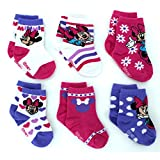 Minnie Mouse Girls 6 pack Socks (Baby)