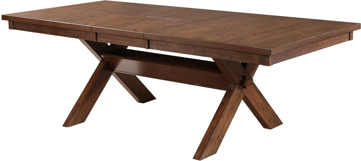 Powell Kraven Dining Table, Dark Hazelnut Finish