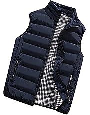 Men's Vest Quilted Vest Down Vest Outdoor Waterproof Functional Vest Sleeveless Jacket Winter Vest with Stand-Up Collar