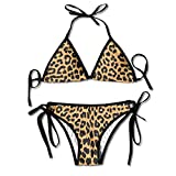 Cool Animal Leopard Print Bikini Women's Summer Swimwear Triangle Top Bikinis Swimsuit Sexy 2-Piece Set