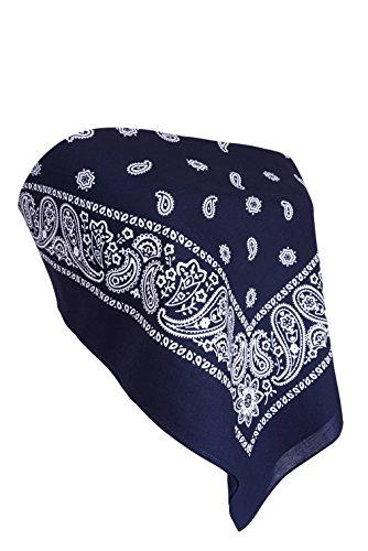 Downright Bandanas Bandana Crop Top Shirt - Womens Clothing - (Navy Blue) - Paisley Tube Top