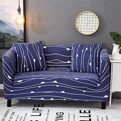 Stretch Sofa Slipcovers Fitted Furniture Protector Print Sofa Cover Stylish Fabric Couch Cover with 2 Pillow Cases for 2 Cushion Couch(Loveseat-2 Seater,Musical Note) (3 Seater 2 Seater)