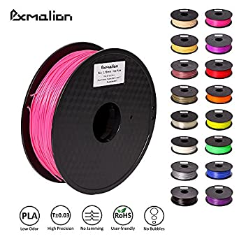 Pxmalion PLA 3D Filament, Hot Pink, 1.75mm, Accuracy +/- 0.03mm, Net Weight 1KG(2.2LB), Compatible with most 3D Printer & 3D Printing Pen