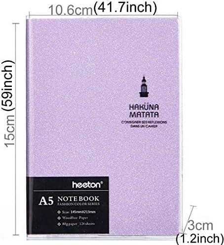 GXEXG Täglich Notepad, Lernen Zubehör Kreative einfaches Design Bunte Mode Gum Abdeckung A5 Tagebuch-Notizbuch (Rosa) (Color : Pink)