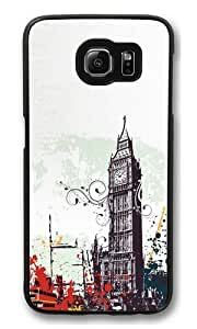 Graffiti London PC Case Cover for Samsung S6 and Samsung Galaxy S6 Black