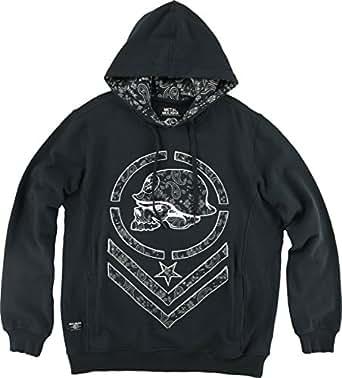 Metal Mulisha Mens Defy Hoody Pullover Sweatshirt Large Black