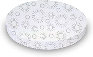 product image for SheetWorld Fitted Oval Crib Sheet (Stokke Sleepi) - Grey Dot Circles - Made In USA