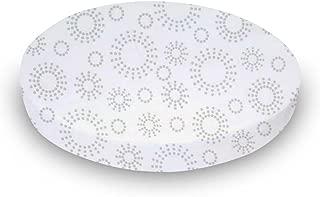 product image for SheetWorld Round Crib Sheets - Grey Dot Circles - Made In USA