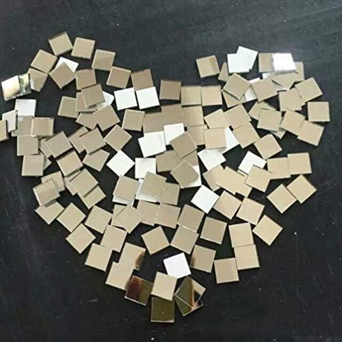 Decorativo Craft Mattonelle di Mosaico Rimovibile Festa Specchio Adesivi POHOVE Autoadesivo Mini Quadrato Vetro Free Size Argento
