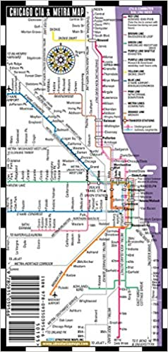 Streetwise Chicago Bus, CTA & Metra Map - Laminated Chicago ...