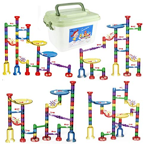 WTOR Marble Run Set Marble Maze Game STEM Educational Learning Building Blocks Toy Gift for Kids Boys Girls (Storage Box)