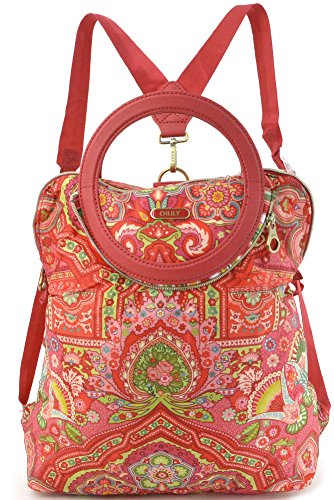 Oilily Folding City Backpack Raspberry