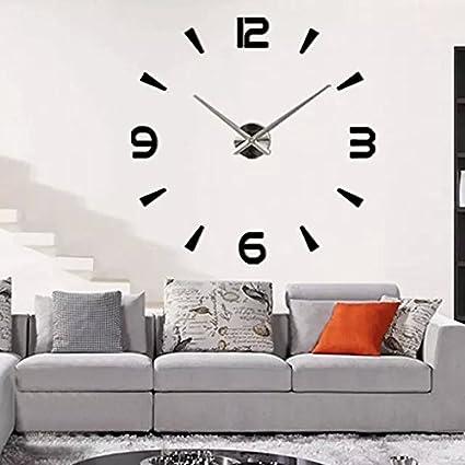 Removable DIY Wall Clock 3D Acrylic Mirror Surface Wall Sticker Decal Decor