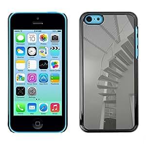 "For Apple iPhone 5C , S-type Arquitectura Minimalista Escaleras"" - Arte & diseño plástico duro Fundas Cover Cubre Hard Case Cover"