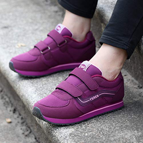 Stickers Grinding aged Women's Middle Mother Shoes Sports Winter Elderly Shoes Autumn The Outdoor Purple H4Tvgn