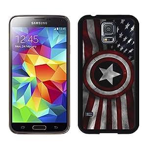 New Unique DIY Antiskid Skin Case For Samsung S5 Captain America Samsung Galaxy S5 Black Phone Case 076