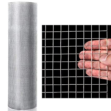 1 2 Inch Square Wire Mesh | Goplus 1 2 Inch Hardware Cloth 48 X 50 Galvanized Welded Cage
