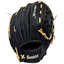 Franklin Sports Pro Flex Hybrid Series Baseball Fielding Glove, Right Hand Throw, 13-Inch, Black/Camel