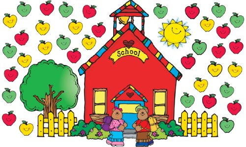 Apple Schoolhouse - Carson Dellosa D.J. Inkers Schoolhouse Bulletin Board Set (610010)
