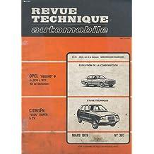 Études et documentation de la revue technique automobile