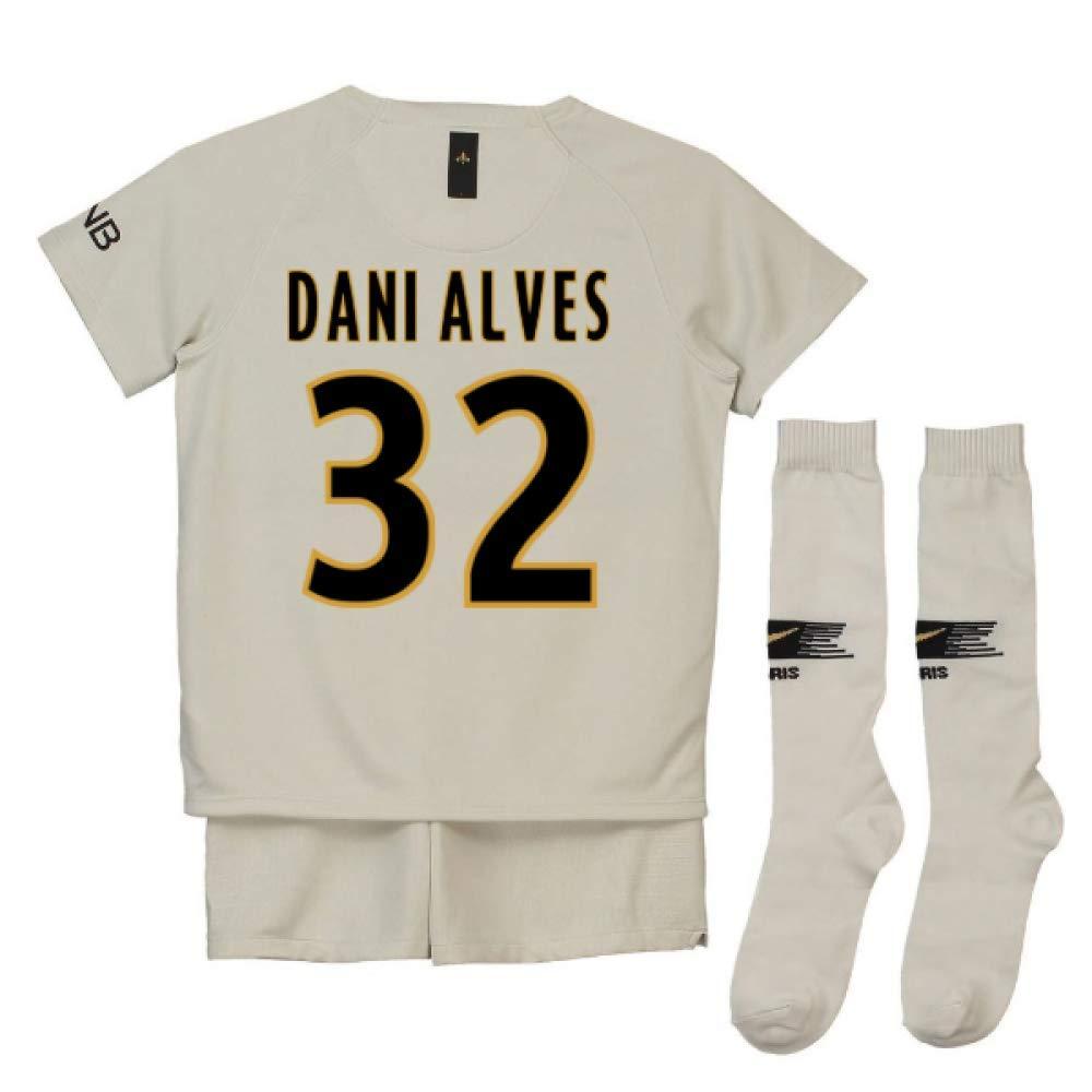 UKSoccershop 2018-19 PSG Away Mini Kit (Dani Alves 32)