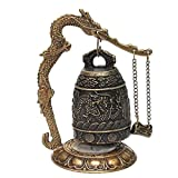 FairOnly Excellent Tibet Dragon Buddha Bell Decoration Wind Chimes Exquisite Copper Wholesale Decoration Real Brass Show