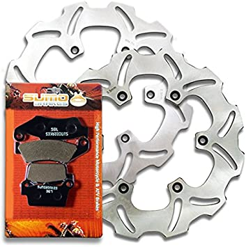 Yamaha WR250F 03-06 YZ250F Front and Rear Brake Pads and Sport Brake Rotors