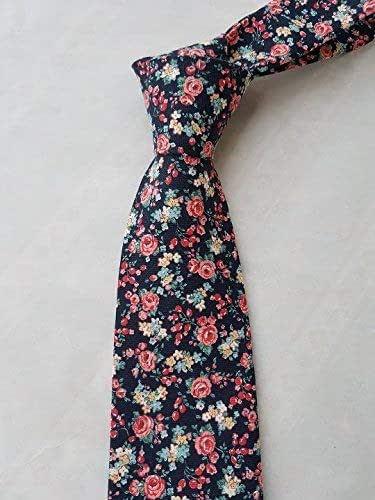 Corbata azul marino y rosas hecho a mano hand made: Amazon.es ...