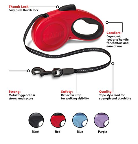 The Company of Animals - HALTI Retractable Dog Leash - One Button Break and Lock - Large - Red by The Company of Animals (Image #6)