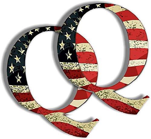 Vinyl Products Q sticker - American Flag - Anti Trump - qanon anon - Political Sticker 2 - Pack