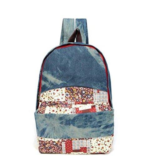 bolso de hombro del viento Colegio Sra./mochila moda casual/Versión coreana de la bolsa de lona-C B