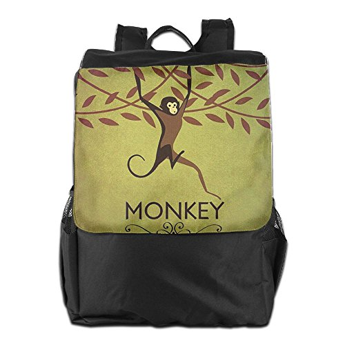 And Backpack For Shoulder Vintage Dayback Camping HSVCUY School Monkey Outdoors Adjustable Storage Men Women Personalized Travel Strap FqCWRZw