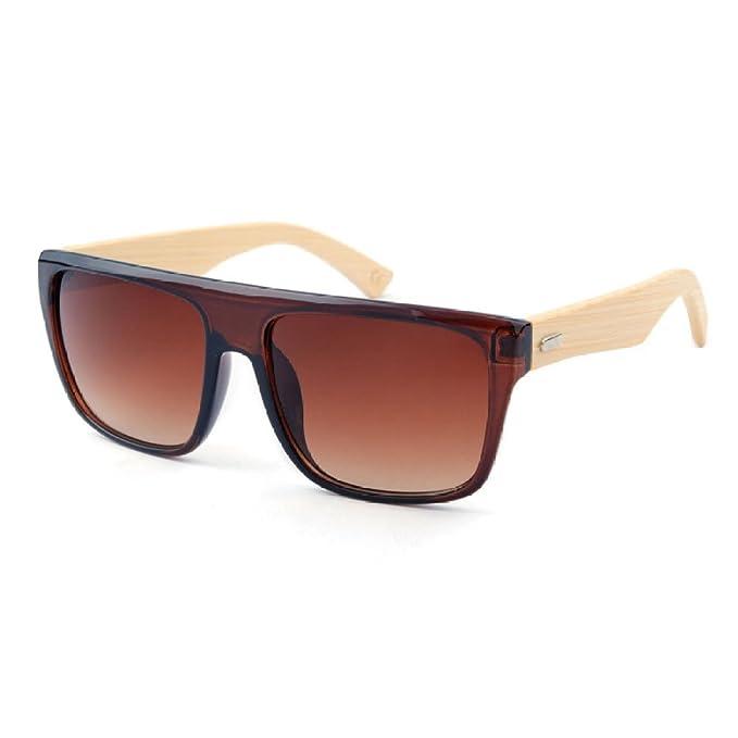 Gafas De Sol De Bambú De Fashion Square Gafas De Sol De ...