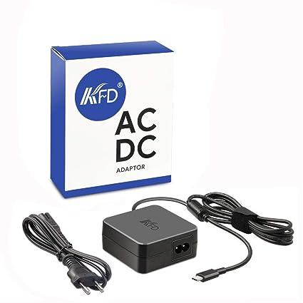 KFD Adaptador de Corriente 5V 9V 15V 3A 20V 3.25A 65W Cargador USB Tipo C ...